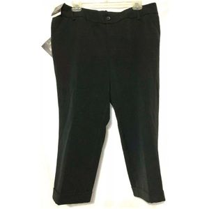 Ava & Viv Black Mid Rise Stretch Crop Pants 14W
